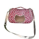 ASOCEA Pet Carrier Uscente borsa da viaggio borsa con tracolla regolabile per criceti Cat Guinea Pig Hedgehog Squirrel Chinchilla e piccoli animali rosso 22,1x 18x 17cm