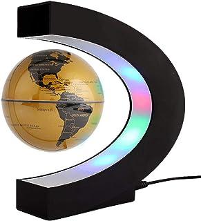 Kreativ C-form magnetisk levitation flytande glob lampa med LED-lampor och bas för hem- och kontorsdekorationer - guld
