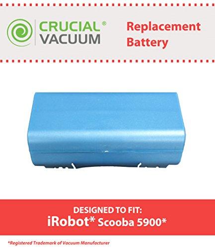 Crucial Vacuum Replacement Vacuum Battery – Compatible with iRobot Part # 14904 – Fits iRobot Scooba Series Models, 330, 340, 350, 590, 6000, 34001 – Bulk (1 Pack)