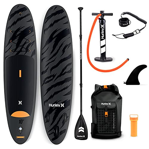 Hurley Advantage 10' Stand Up Paddle Board with Hikeable Backpack, Air Pump,...