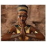 5D Pintura de Diamante DIY Kits Completo Taladro Gran Tamaño Diamond Painting Mujer egipcia por Número Crystal Bordado Punto de Cruz Lienzo Manualidades Decoración de la Pared Square drill,40x50cm
