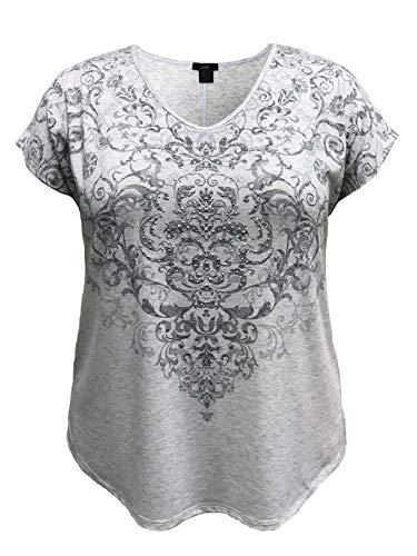 LEEBE Mujer Talla Grande - Camiseta de Manga Corta Dolman (1XL-5XL) (4XL...