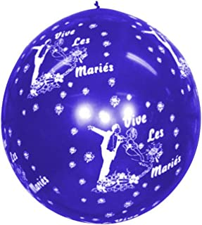 Pyragric Ballon vive Les Maries geant 85 cm Bleu Tout Autour