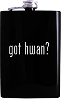 got hwan? - 8oz Hip Alcohol Drinking Flask, Black