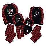 Haokaini Christmas Pajamas Family Matching Sleepwear Xmas Nightgown for All of Families