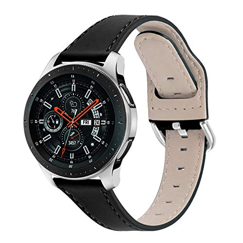 TWBOCV Correa de Reloj Galaxy Watch 3 de 45 mm, 22 mm Correa de Reloj con Correa de Hebilla para Samsung Galaxy Watch 46 mm/Galaxy Watch 3 45 mm/Gear S3 Frontier/Gear S3 Classic (Negro)