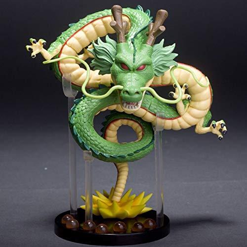 Gettop Invocar a Shenlong Dragón Dorado Figura De Acción con Soporte, 16cm Coleccionables Juguete, Modelado De Personajes De Dibujos Animados, Regalos para Niños Y Adultos