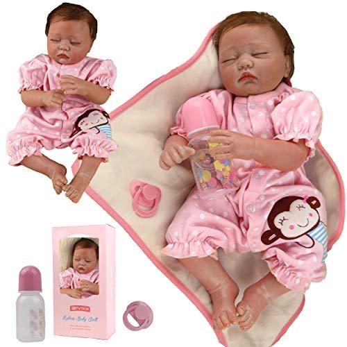 ZIYIUI Muñeca Bebé Reborn Niñas 20 Pulgadas 50 cm Silicona Suave Vinilo Vida Real Realista Hecha a Mano Reborn Niña Chupete Magnético Chicas durmiendo Regalos de Cumpleanos Reborn Toddler