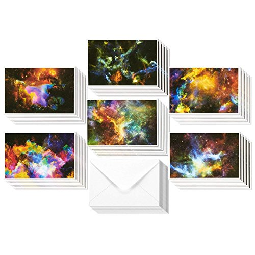 48 Pack All Occasion Greeting Cards - Assorted Blank Note Cards Bulk Box Set Cosmic Designs - Envelopes Included - 4 x 6 Inches Photo #4