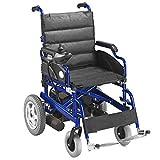 AIESI® Sedia a rotelle elettrica pieghevole per disabili ed anziani AGILA R-EVOLUTION # Braccioli e Schienale ribaltabili # Poggiapiedi estraibili # Cintura di sicurezza # Garanzia 24 mesi