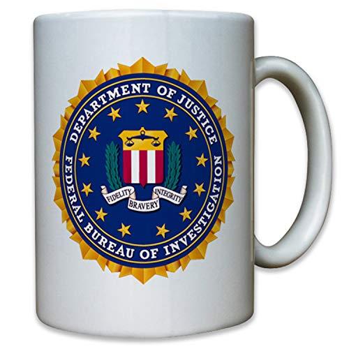 FBI Insignia Escudo Policía Federal Estados Unidos América Emblema Taza #12602