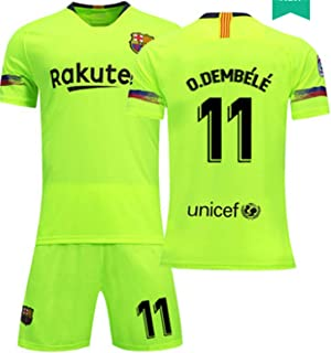 LISIMKE Soccer Team 2018/19 Barcelona Away Soccer Ousmane Dembele 11 Mens Replica&Shorts Kid Youth Replica Jersey Kit