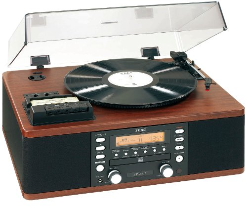 Teac LPR500 All-In-One CD/Turntable/Cassette/Tuner Hifi System (Wood)