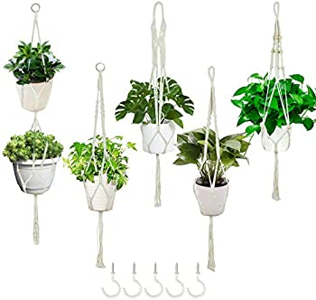 5-Pack Lszeliki Macrame Plant Hangers