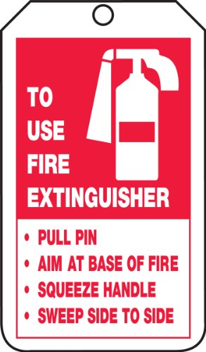 Accuform Signs TRS218CTP Fire Extinguisher Tag, Legend