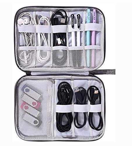 Salandens organizador de cables-Organizador electrónico Cable Bolsa Viaje Organizador de cable universal Accesorios de electrónica...