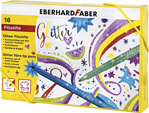Eberhard Faber 551016 – Rotuladores con purpurina en 16 co