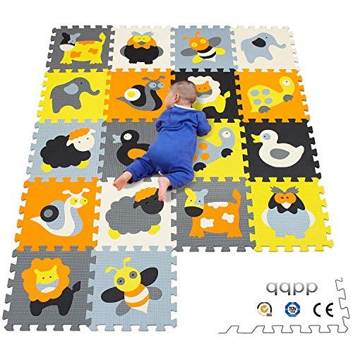 qqpp Alfombra Puzzle para Niños Bebe Infantil - Suelo de Goma EVA Sua