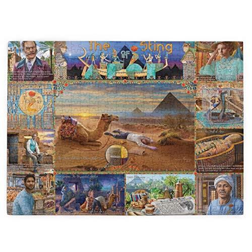 Rompecabezas para adultos, 520 piezas, The Sting of Apep- Tarjeta de madera difícil de romper, rompecabezas nostálgico familiar, 20 x 15 pulgadas