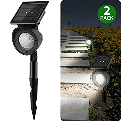 Brightown Solar Path Light Outdoor Hight Lumens?LED Landscape Lighting for Yard, Driveway, Pathway, Patio, Lawn, Garden, Walkway, Natural White