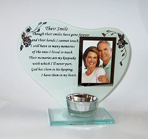Their Smile Memorial Poem Photo Frame & Candle Holder