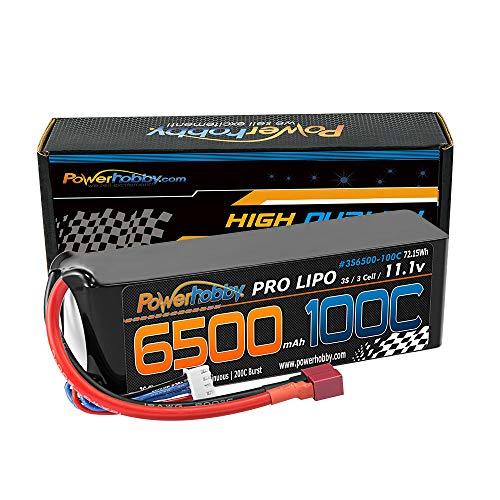 Powerhobby 3S 11.1V 6500mAh 100C Lipo Battery Pack w Deans Plug Soft Case Fits : Assocated Hpi Savage Vorza E10 Rs4 Blitz Duratrax