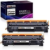 Zambrero CF244A 44A Cartucho Tóner Compatible para HP LaserJet Pro HP LaserJet Pro M15w M15a M16a M16w M17a M17w M15 M16 M17 MFP-M28w MFP-M28a MFP-M29w MFP-M29a MFP-M28 MFP-M29 (2 Negro)