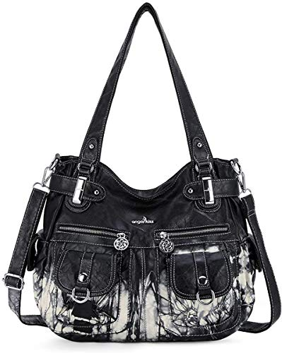 Quality Material: High Quality Soft Anti-Scratch PU Leather Hobo Tote Womens Purse Handbag. Distinctive Design: Zipper Closure & Adjustable and Removable Shoulder Strap. DIMENSION:The large-capacity and multi-pocket design can hold a variety of items...