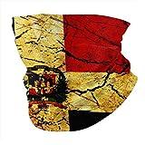 YRMP Vintage República Dominicana Bandera Verano Bandana Mascarilla -Balaclava Bufanda Polvo Sol Protección UV Pesca Cuello Polaina - para Hombres y Mujeres Negro