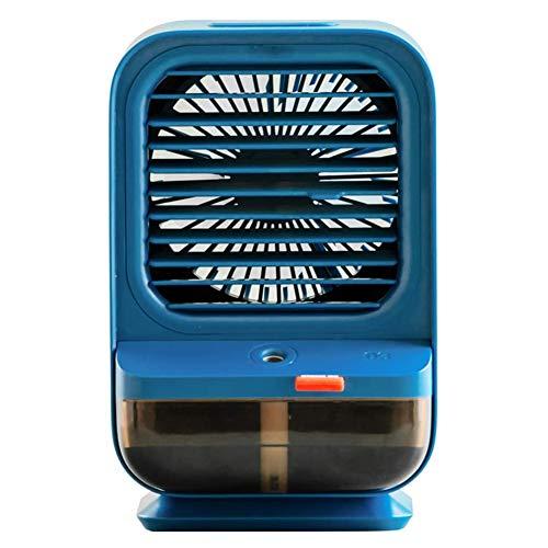Refrigerador de aire personal, Mini aire acondicionado portátil - 3 en 1 Mini Aire acondicionado USB Ventilador, 3 velocidades Ventilador de refrigeración de escritorio para oficina,dormitorio,Azul