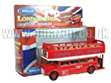 Diecast London Bus Open Top - Tire hacia atrás y Go Acción [Toy]