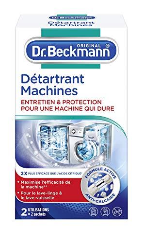 Dr. Beckmann - Détartrant Machines 2x50 g - Pour une machine qui dure plus longtemps - Elimine efficacement le calcaire - Lot de 3