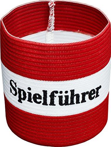 Cawila Spielführer Armbinde, Kapitänsbinde Fußball, Verschiedene Größen und Farben (rot, Senior)
