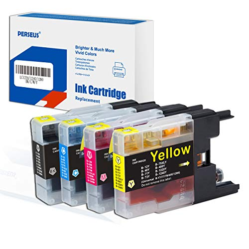 PERSEUS LC1240VALBPDR Cartucho tinta compatible con Brother LC1240 BK/C/M/Y tinta para DCP-J525W, J725DW, J925DW, MFC-J430W, J5910DW, J625DW, J825DW, J430DW, J6510DW, J6710DW, LC-1220 1280XL impresora