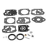 SENRISE Ryobi 753-04014 Kit di riparazione carburatore per carburatore incluso guarnizione a membrana e set di riparazione per carburatore Walbro WYL K20-WYL