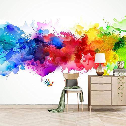 Fotomural Vinilo Pared,Graffiti De Color 250x175cm,Moderno Fotomurales Salón Dormitorio Despacho Pasillo Decoración Murales Decoración De Paredes