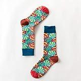 LEIHALA Gezeiten-Marken-Frauen-glückliche Socken färben die psychedelische Illustrations-Reihe Sokken des lustigen Paar-Papstes