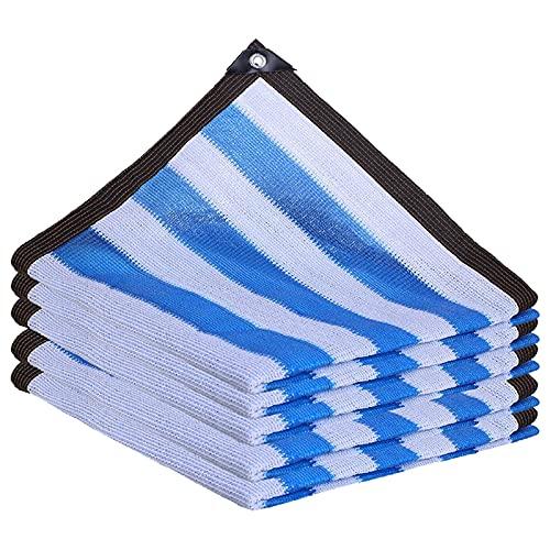 NANSHEN Sonnenschutz und Wärmeisolation Sunshade Segel Garten Garten Schwimmbad UV Schutz staubdichter Sonnenschutz verschlüsselt Sunshade Segel White Blue-3X6M