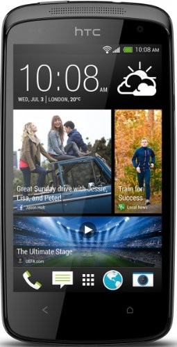 HTC Desire 500 Smartphone (8 Megapixelkamera, 10,9 cm (4,3 Zoll) Display, 1,2GHz, Quad-Core Prozessor, Android) glossy black