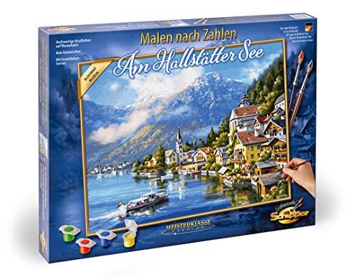 Schipper 609130802 - Malen nach Zahlen - Am Hallstätter See - Bilder malen für Erwachsene, inklusive Pinsel und Acrylfarben, 40 x 50 cm