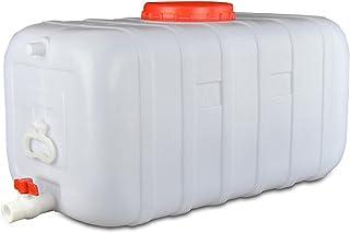 ZXD 50L/100L Seau De Stockage d'eau Seau De Stockage d'eau Rectangulaire en Plastique Horizontal pour Usage Domestique ave...
