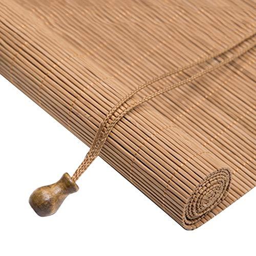 WYAN Roll Up Shade persiana de bambú Persianas venecianas con extracción Lateral for la Pantalla de Windows y Puertas de bambú Separados Decorar la habitación, tamaños múltiples