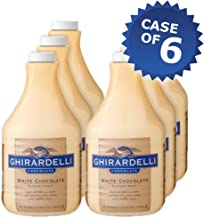 Ghirardelli White Chocolate Flavored Sauce- 64oz Bottle (Case of 6)