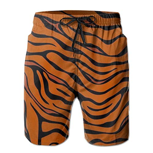 YongColer Men's Tiger Stripe Animal Short Swim Trunks Best Board Shorts for Sports Running Swimming Beach Surfing Quick Dry Breathable Bathing Suits Beach Holiday Party Swim Shorts