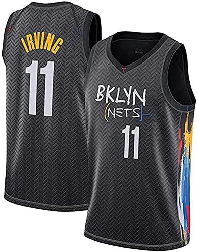 Trikots Brooklyn Nets #11 Irving #7 Durant Jersey Herren Basketball Atmungsaktives Shirt Retro Basketball Shorts Uniform Sommer Tops (Größe: S-XXL), B, M (Farbe: B, Größe: S (165~170cm)))