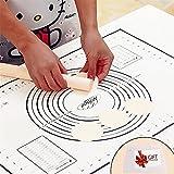 Tapete de Silicona para Hornear Baking Mat Grande Antiadherente, Raspador de Regalo, Incluye Medidas, Para Hacer Fondant Pizza Dough Tarta, 60 x 40 cm (Negro)