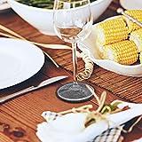 Oladwolf Filz Untersetzer rund 12er Set für Gläser, Inkl. Untersetzer Halter für Getränke, Tassen, Bar, Glas - Premium Tischuntersetzer Filzuntersetzer Dunkelgrau - 5