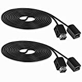 SNES Classic Controller Extension Cable 10FT - 2 Pack, Fosmon NES Extension Power Cord for Super Nintendo SNES Classic Edition Controller 2017 & Mini NES Classic Edition 2016, Wii/Wii U Controllers
