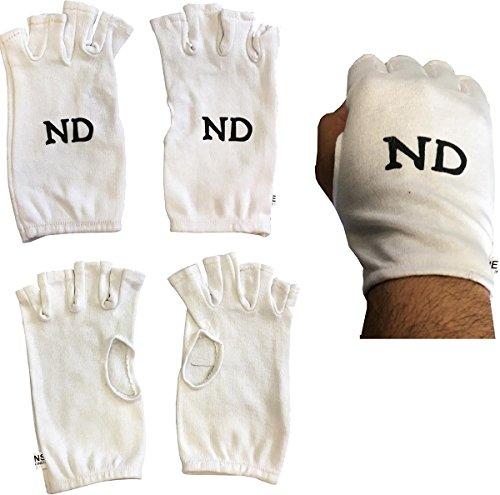 Fingerlose Baumwolle Innenhandschuhe Verschiedene Größen Cricket Innenhandschuhe Damen