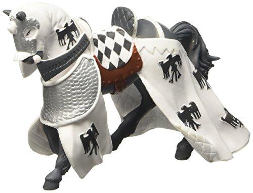 Papo 39786 Pferd des Paladins, weiß Mittelalter - Fantasy Figur, Mehrfarben